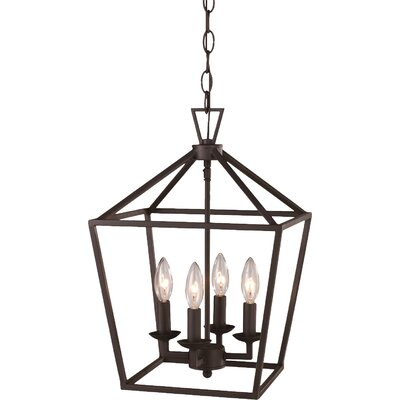 Carmen 4-Light Pendant Finish: Rubbed Oil Bronze