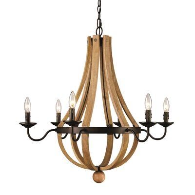 Dimitri 6-Light Candle-Style Chandelier