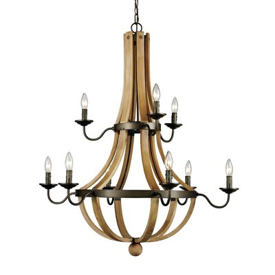 Dimitri 9-Light Candle-Style Chandelier