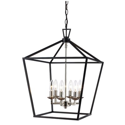 Carmen 6-Light Foyer Pendant Finish: Black/Polished Chrome