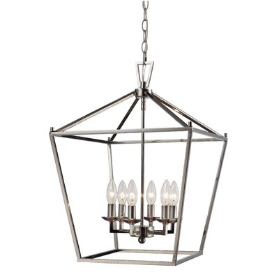 Carmen 6-Light Foyer Pendant Finish: Polished Chrome