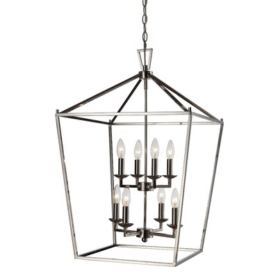 Carmen 8-Light Foyer Pendant Finish: Polished Chrome, Size: 26 H x 19 W x 19 D