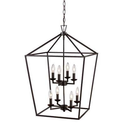 Carmen 8-Light Foyer Pendant Finish: Rubbed Oil Bronze, Size: 26 H x 19 W x 19 D