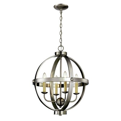 Dezi 4-Light Foyer Pendant Finish: Brushed Nickel