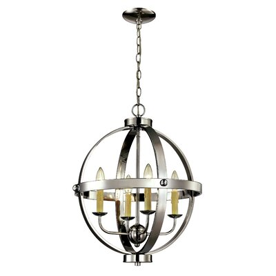 Dezi 4-Light Foyer Pendant Finish: Polished Chrome