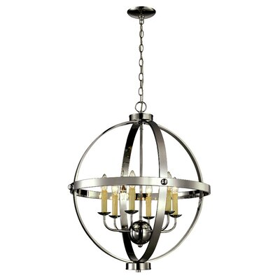 Dezi 6-Light Foyer Pendant Finish: Polished Chrome