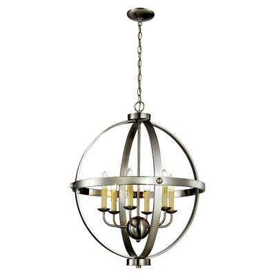 Dezi 6-Light Foyer Pendant Finish: Brushed Nickel