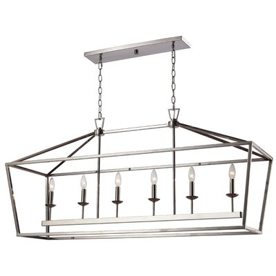Carmen 6-Light Geometric Pendant Finish: Polished Chrome