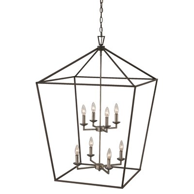 Carmen 8-Light Foyer Pendant Finish: Polished Chrome/Black