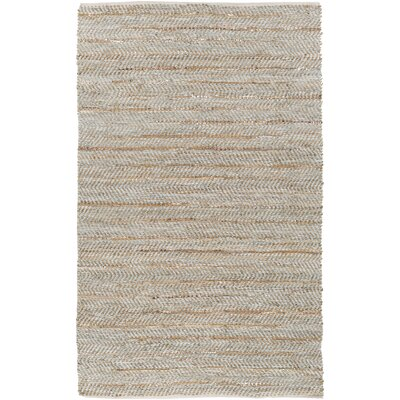 Onaway Hand-Woven Beige/Gold Area Rug Rug Size: Rectangle 5 x 76