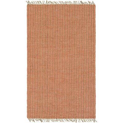 Harrison Hand-Woven Coral/Khaki Area Rug Rug size: 4 x 6