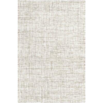 Danielle Hand-Woven Medium Gray Area Rug Rug size: 33 x 53
