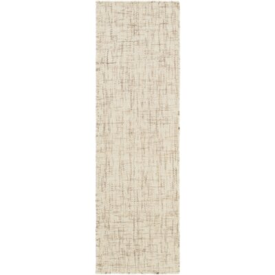 Finleyville Hand-Woven Cream/Taupe Area Rug Rug size: Runner 26 x 8
