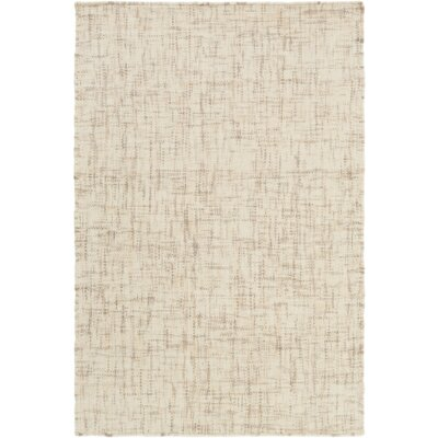 Finleyville Hand-Woven Cream/Taupe Area Rug Rug size: Rectangle 5 x 76