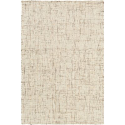 Danielle Hand-Woven Cream/Taupe Area Rug Rug size: 5 x 76