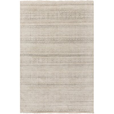 Carmine Hand-Knotted Gray/Brown Area Rug Rug Size: 2 x 3