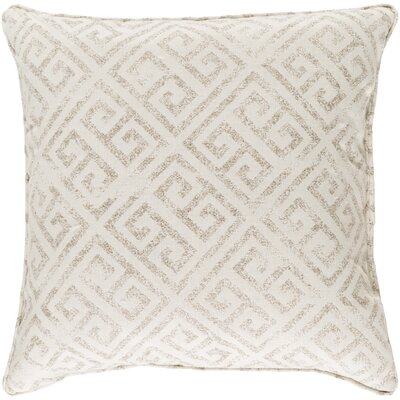 Castres Indoor/Outdoor Throw Pillow Size: 20 H x 20 W x 0.25 D, Color: Ivory