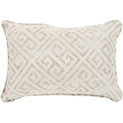 Regina Indoor/Outdoor Lumbar Pillow Color: Ivory