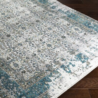 Deandra Blue/Yellow Area Rug Rug Size: Rectangle 711 x 10