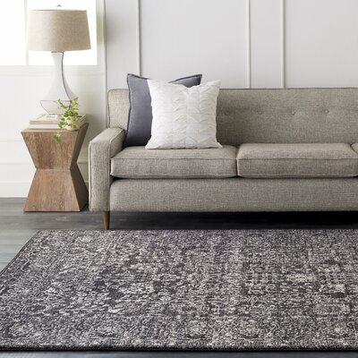 Hannah Charcoal Area Rug Rug Size: Rectangle 93 x 126
