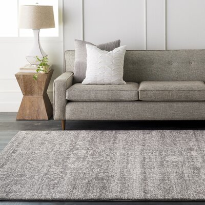 Hannah Gray Area Rug Rug Size: Rectangle 93 x 126