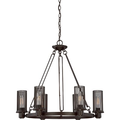 Cleodaus 6-Light Shaded Chandelier