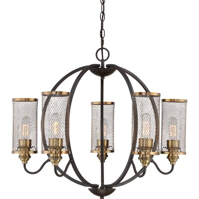 Jesvin 6-Light Shaded Chandelier