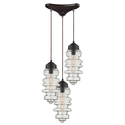 Cera 3-Light Cascade Pendant