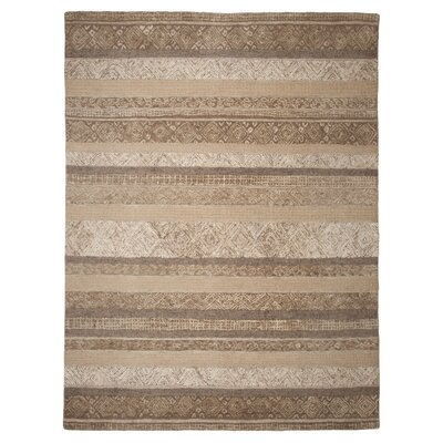 Tifton Hand-Woven Beige/ Brown Area Rug Rug Size: 8 x 10
