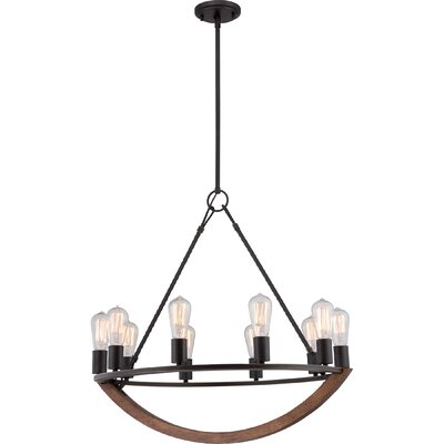 Ouellet 10-Light Candle-Style Chandelier