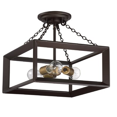 Ethyl 3-Light Semi Flush Mount