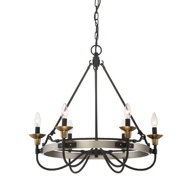 JMill 6-Light Candle-Style Chandelier