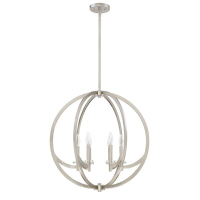 Hazel 6-Light Foyer Pendant Finish: Brushed Nickel