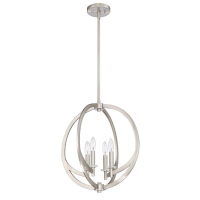 Hazel 4-Light Foyer Pendant Finish: Brushed Nickel