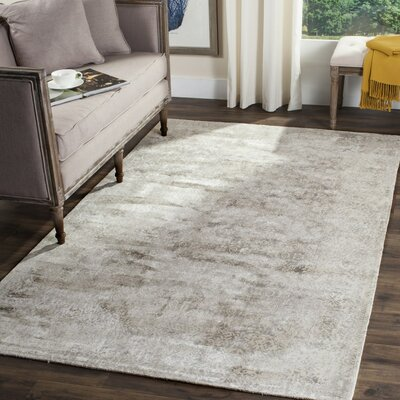 Jessup Hand-Loomed Ivory/Silver Area Rug Rug Size: Rectangle 6 x 9