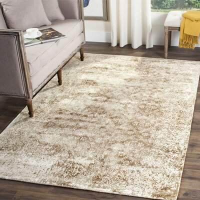 Jessup Hand-Loomed Ivory/Beige Area Rug Rug Size: Rectangle 6 x 9