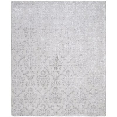 Jessup Hand-Loomed Silver Area Rug Rug Size: Rectangle 6 x 9
