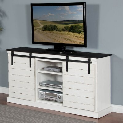 Castres 65 TV Stand Color: White/Black