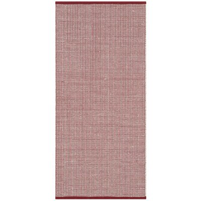 Oxbow Hand-Woven Ivory/Red Area Rug Rug Size: 5 x 8