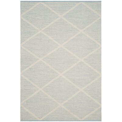 Oxbow Hand-Woven Light Blue Area Rug Rug Size: 3 x 5