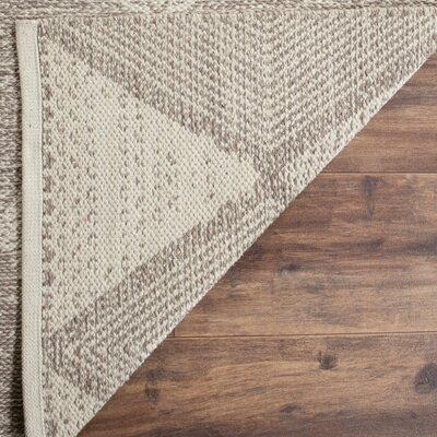 Oxbow Hand-Woven Gray Area Rug Rug Size: Rectangle 4 x 6