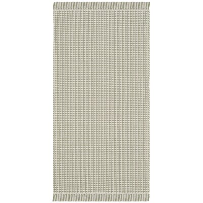 Oxbow Hand-Woven Ivory/Green Area Rug Rug Size: Runner 23 x 8
