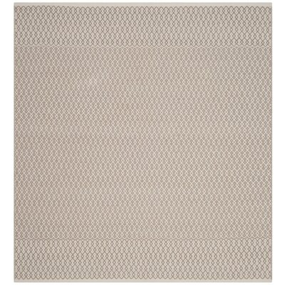 Oxbow Hand-Woven Gray Area Rug Rug Size: Rectangle 3 x 5