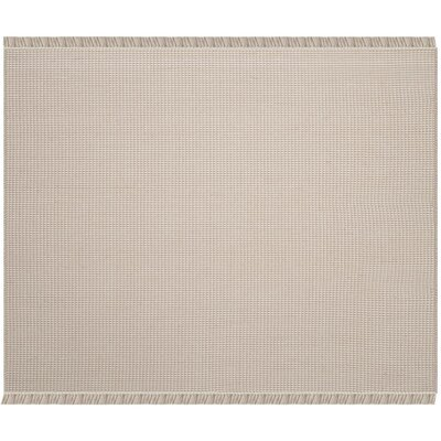 Oxbow Hand-Woven Beige Area Rug Rug Size: Square 6