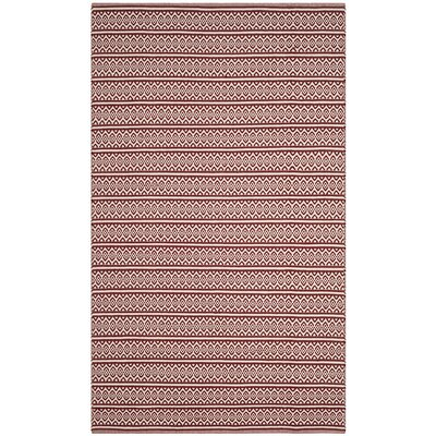 Oxbow Hand-Woven Red Area Rug Rug Size: 4 x 6