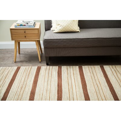 Dillon Hand-Woven Brown/Beige Area Rug Rug Size: 9 x 12
