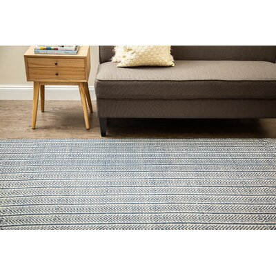 Dina Hand-Woven Blue Area Rug Rug Size: 9 x 12
