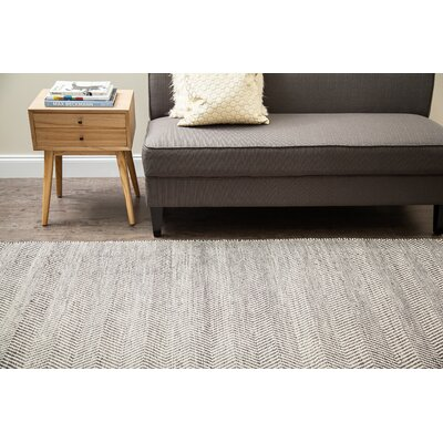 Allister Hand-Woven Gray/Ivory Area Rug Rug Size: 9 x 12