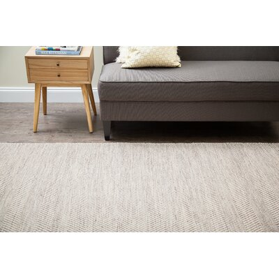 Dominique Hand-Woven Tan/Ivory Area Rug Rug Size: Runner 26 x 8