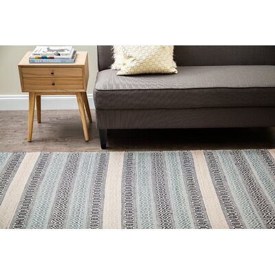 Oshawa Hand-Woven Blue/Ivory Area Rug Rug Size: Runner 26 x 8